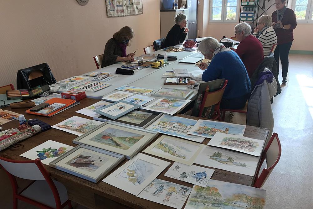 Tesson - Atelier libre dessin aquarelle