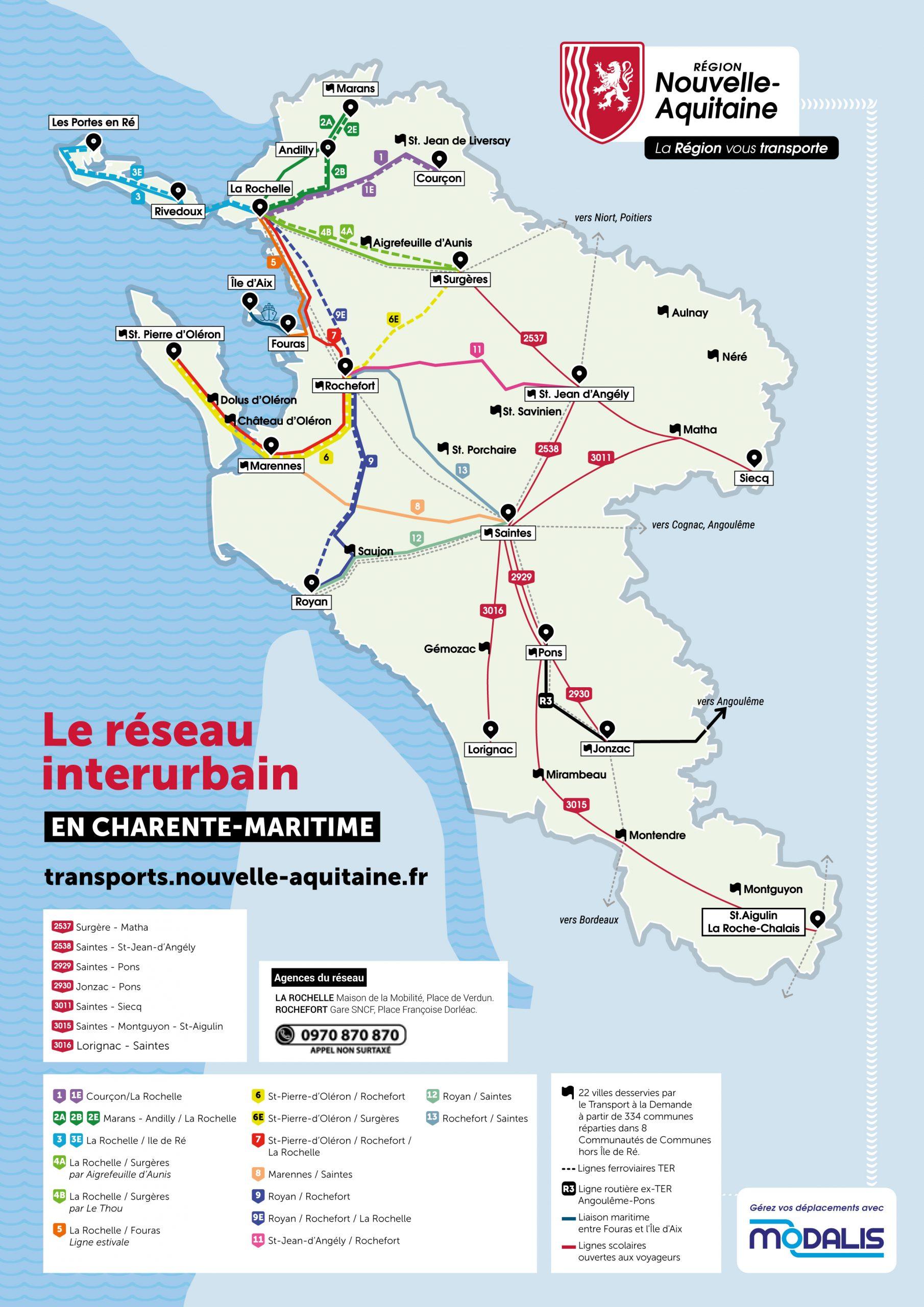 Carte du réseau urbain 17
